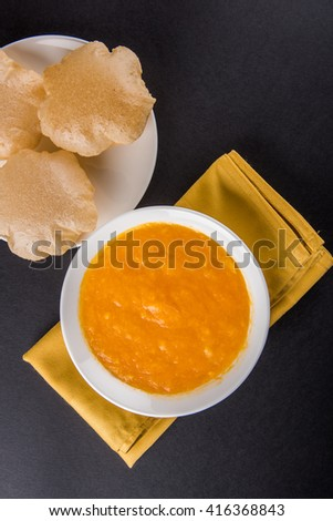 Aamras Or Aam Ras Puri Puri Which Is An Indian Fried Small Bread And Alphonso