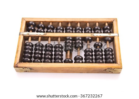 Chinese abacus magnifying glassbusiness concept stock for Abacus cuisine of china