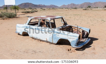 Abandoned car in the Namib Desert, Namibia