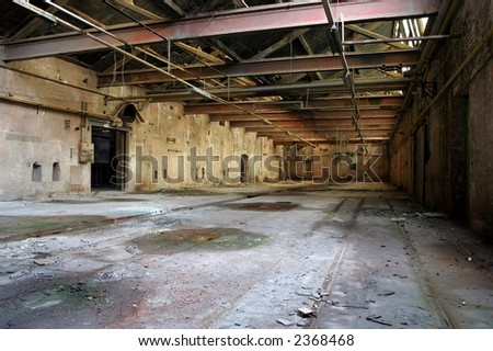 Abandoned empty warehouse / factory