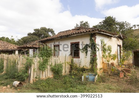 Abandoned rural house in Brazil