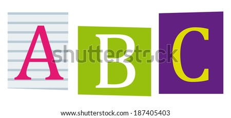 Love you mom colorful letters cut stock illustration 187827467 abc alphabet education symbol letters cut out of books and magazines spiritdancerdesigns Images