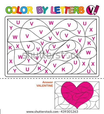 Number Names Worksheets learn to write the alphabet : Abc Coloring Book Kids Color By Stock Vector 435342073 - Shutterstock