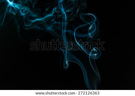 Abstact smoke isolated in black background