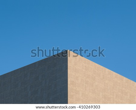Abstract architecture.Close up of a facade building.