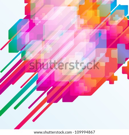 Abstract arrow background.