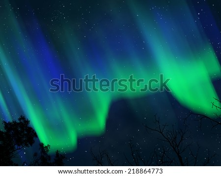 Abstract aurora background