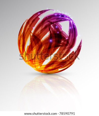 abstract background. color sphere. illustration