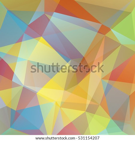 abstract background consisting of pastel yellow, orange, blue triangles