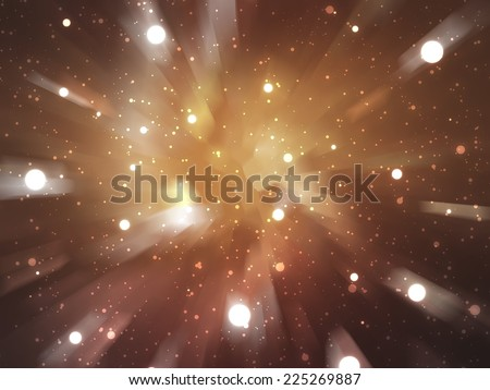 abstract background. explosion star on brown