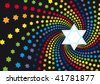 Abstract background from the stars of David - stock vector