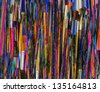 Abstract background made from paintbrushes - stock photo