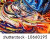 Abstract background of mixed oil paint - stock photo