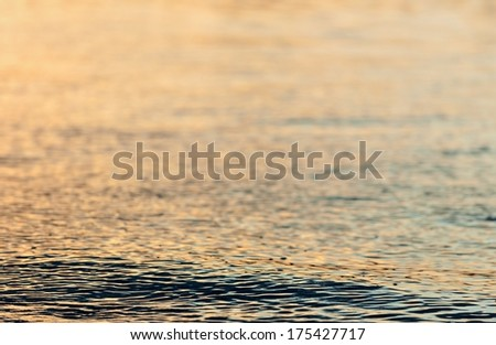 Abstract background. Sunset water natural background.