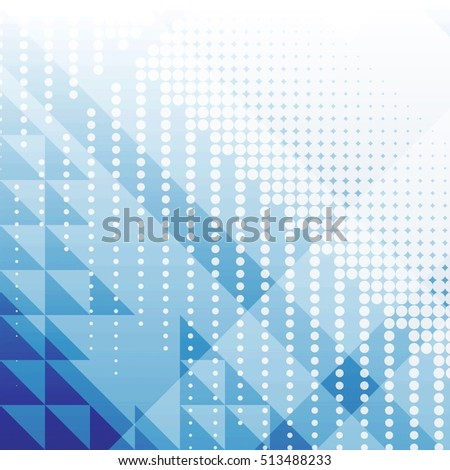 Abstract background with dots and triangles
