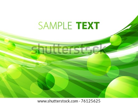 Abstract background with green shapes. Rasterized vector