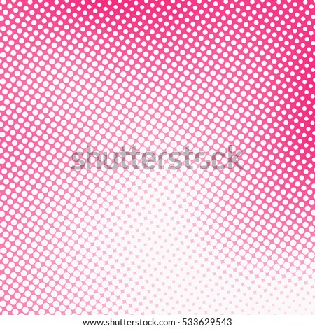 abstract background with pink dots - irregular halftone