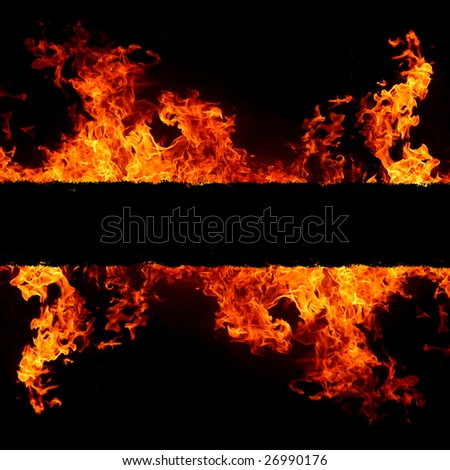 abstract background with vivid hot fire flames - copyspace for your text