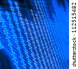 abstract binary code on blue digital screen - stock photo