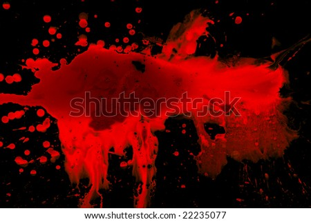 Abstract blood on black background