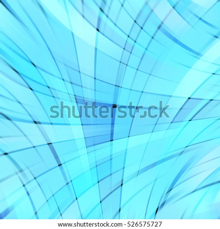 Abstract blue background with smooth lines. Color waves, pattern, art, wallpaper, technology backdrop.