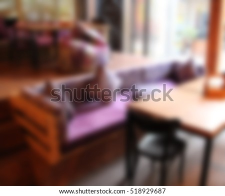 abstract blur in cafe for background