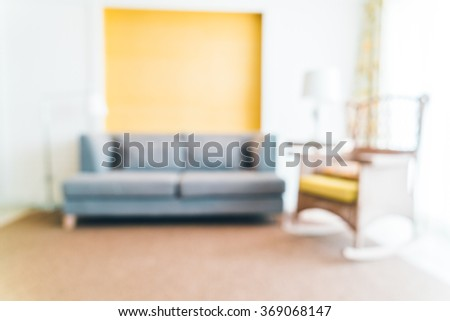 Abstract blur Sofa Decoration in livigin room interior - Filter effect Processing