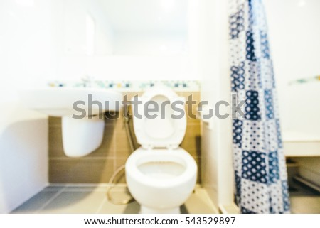 Abstract blur toilet room interior for background