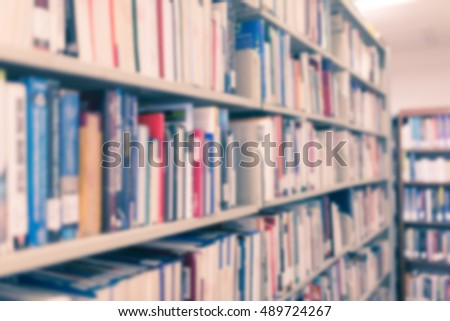 Books Public Library Shallow Dof Stock Photo 123704254