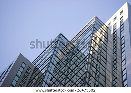 abstract building background  /  reflection on the glass for design