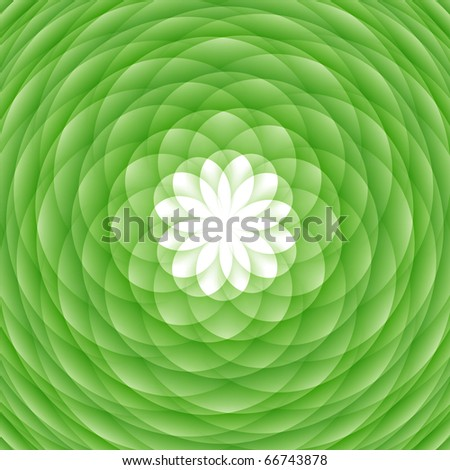 Abstract circled ornament, flower-shaped