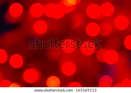 Abstract circular bokeh background of red Christmas lights