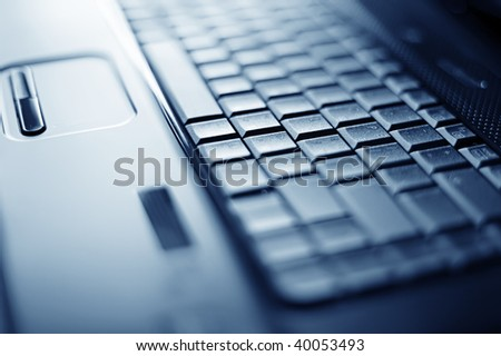 Abstract close-up laptop with shallow DOF
