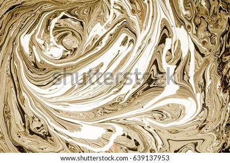 Marbled Blue Green Golden Abstract Background Stock