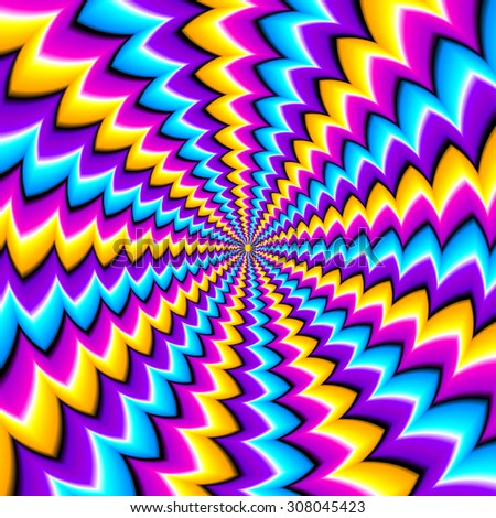 Abstract Yellow Background Spin Illusion Stock Vector ...