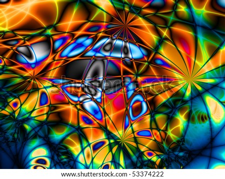 Abstract colorful  background with salute in colores of rainbow