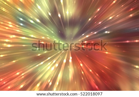 abstract colorful gloss background. fractal explosion light star