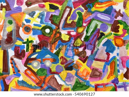 Abstract colorful hand painted background. Acrylic painting.