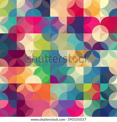 Abstract colorful  retro geometric background.