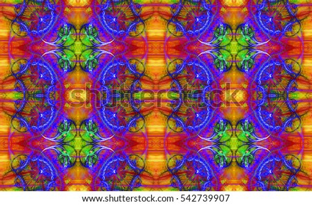 Abstract colorful seamless pattern with a detailed explosive star/flower like texture,ideal for any kind of fabric,print or any other creative use,in high resolution and vivid colors