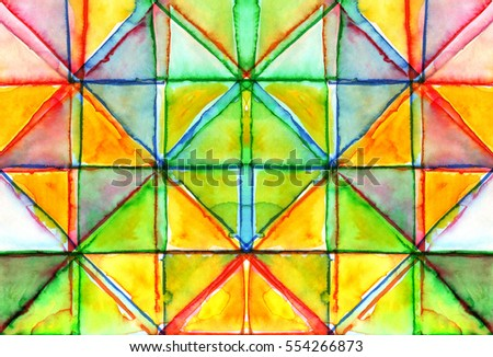 Abstract colorful watercolor background. Hand painted texture.