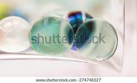 Abstract composition with glass balls