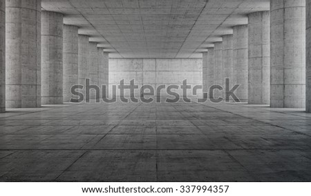 Abstract concrete geometric background. 3D render