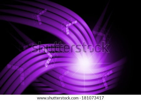 abstract curve and lines texture purple background