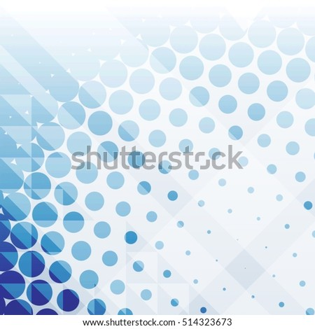 Abstract 3d background with gradient dots