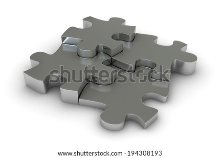 Abstract 3d render of puzzle