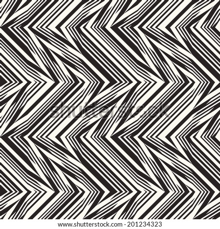 Abstract decorative broken striped textured herringbone motif background. Seamless pattern.