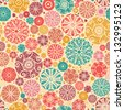 Abstract decorative circles seamless pattern background raster - stock photo