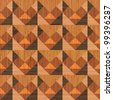Abstract decorative textured wooden geomethrical mosaic. Seamless pattern. Illustration. Raster version. - stock photo