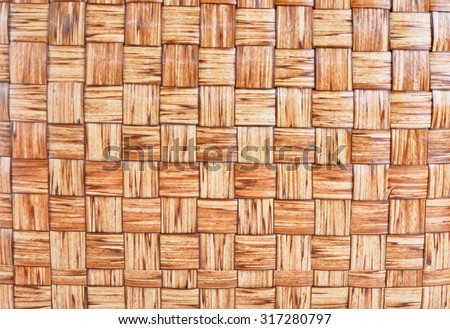 Abstract decorative wooden textured basket weaving background